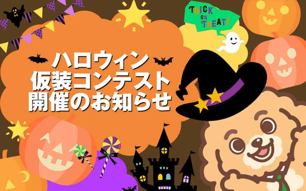 【終了】ハロウィン仮装コンテスト開催のお知らせ